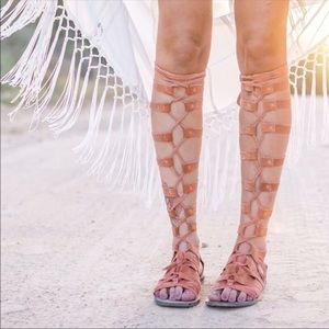 Free People tie up gladiator sandals